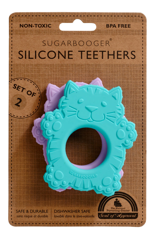 Silicone Teether-Fluffy Cat & Hedgehog