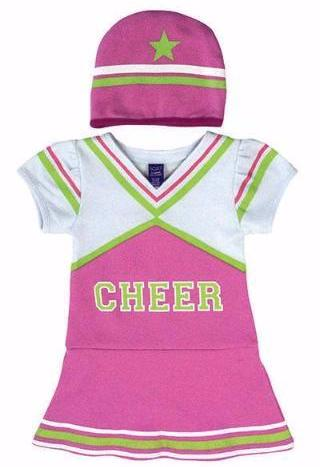 Cheerleader Bodysuit and Cap Set