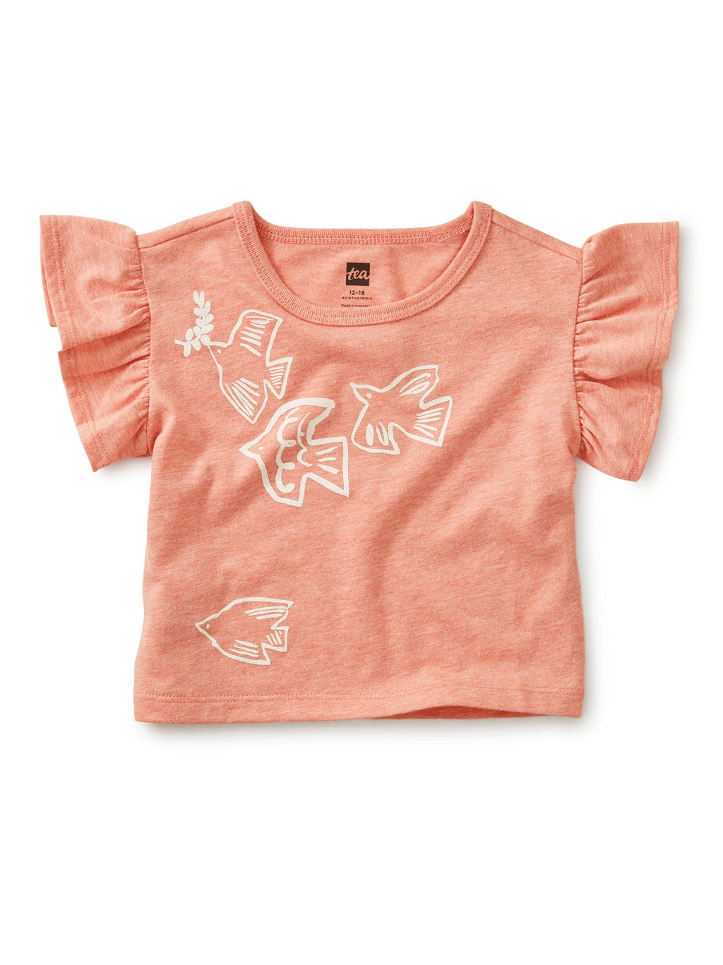 Birds Flying High Ruffle Tee