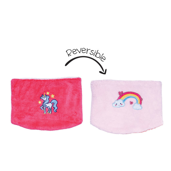 Kids Reversible Neck Warmer - Unicorn/Rainbow