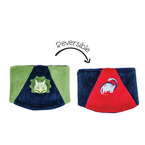 Kids Reversible Neck Warmer - Dino/Dino