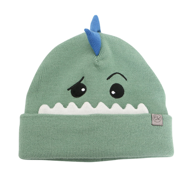 Kids Knitted Toque - Dino