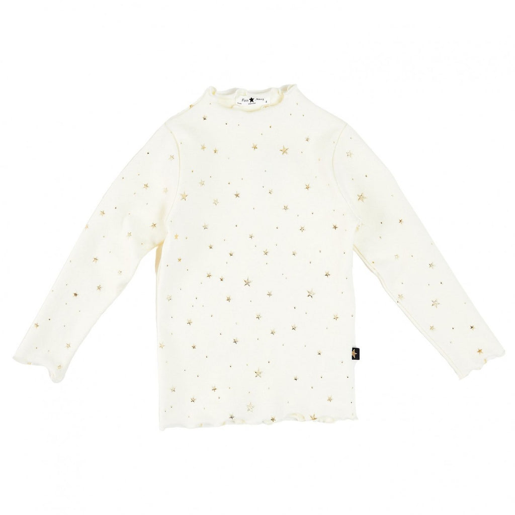 Gold Star Ava Mom Top- Ivory