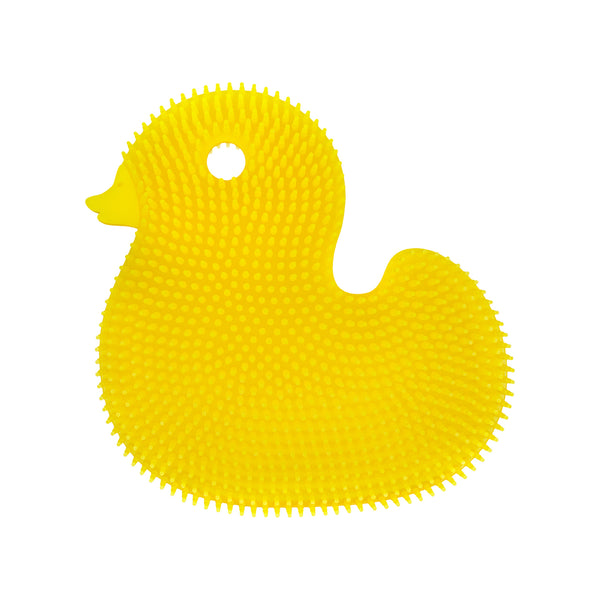 Bathin' Smart Silicone Duck Antimicrobial Bath Scrub