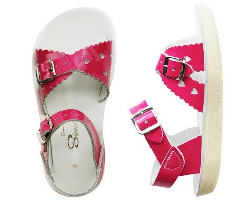 Salt Water Sandals Sweetheart - Shiny Fuchsia