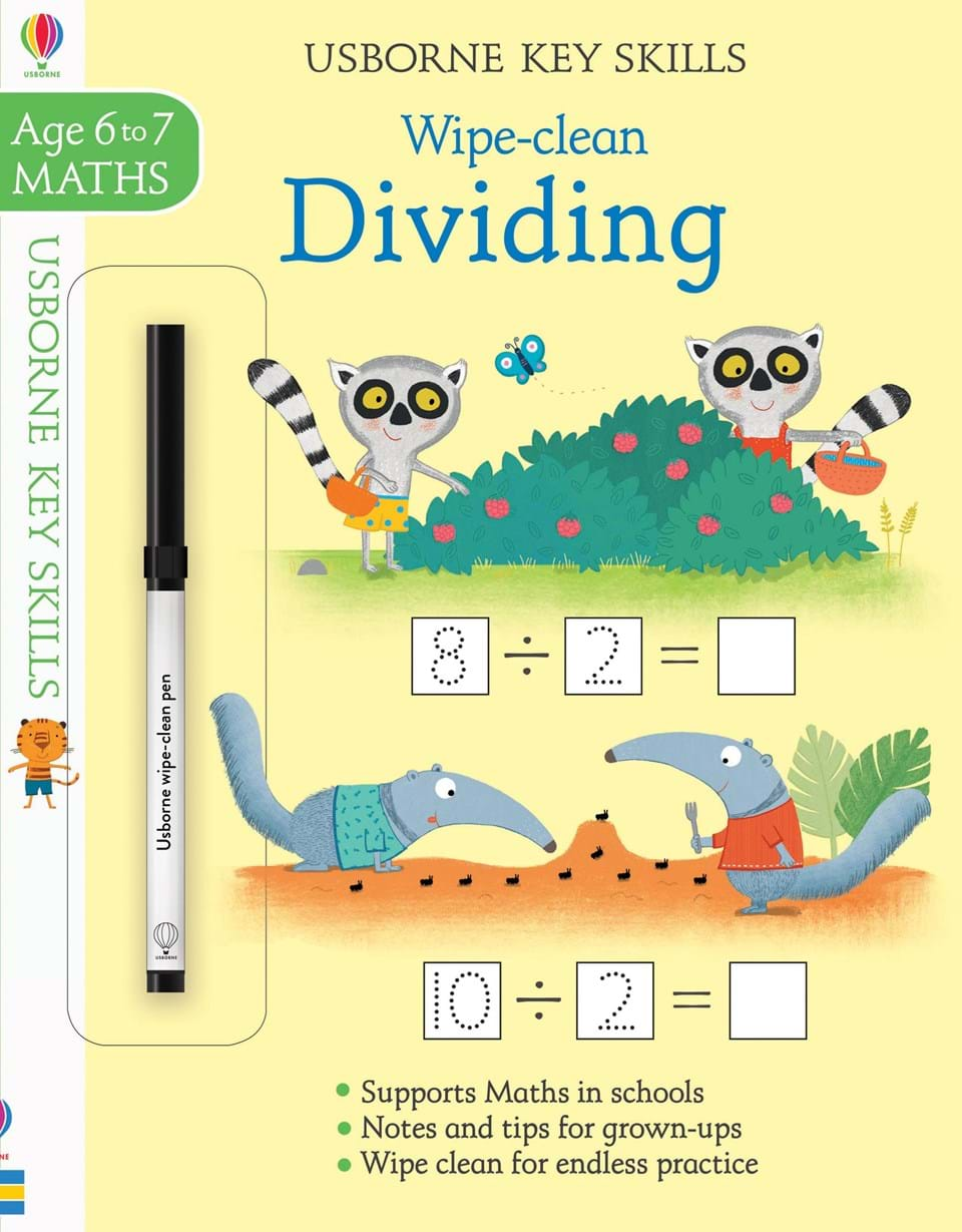 Wipe-clean : Dividing (Age 6-7, Maths)