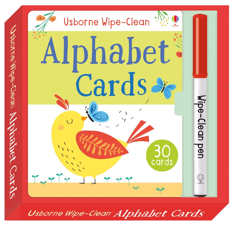 Wipe-clean Alphabet cards (3+)