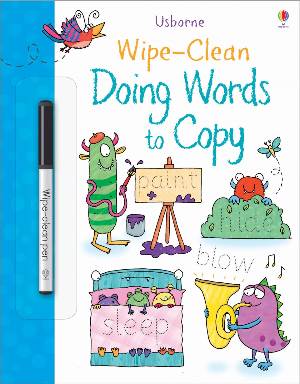 Wipe-clean doing words to copy (Age 3+)