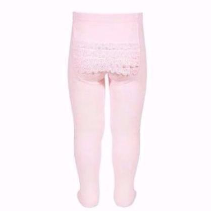 Baby Lace Bottom Tights - Size 0 (6-12mth)