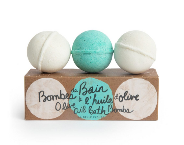 Olive Oil Bath Bombs (3*90g)