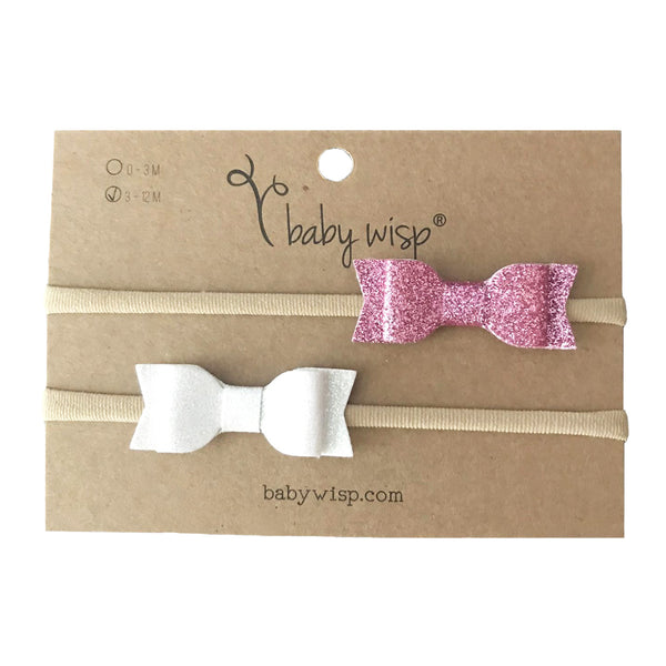 Headband 2 Pack - Glitter Mia Bows