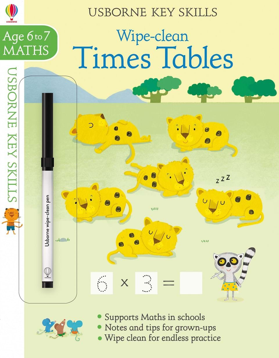 Wipe-clean : Times Tables (Age 6-7, Maths)
