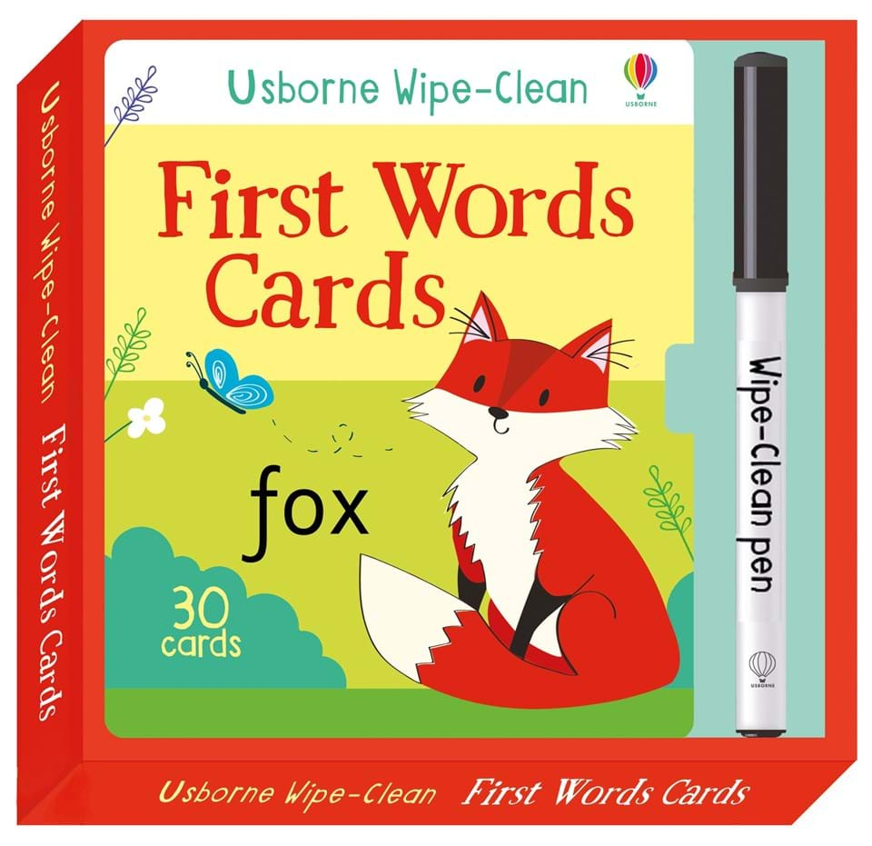 Wipe-clean first words cards (3+)