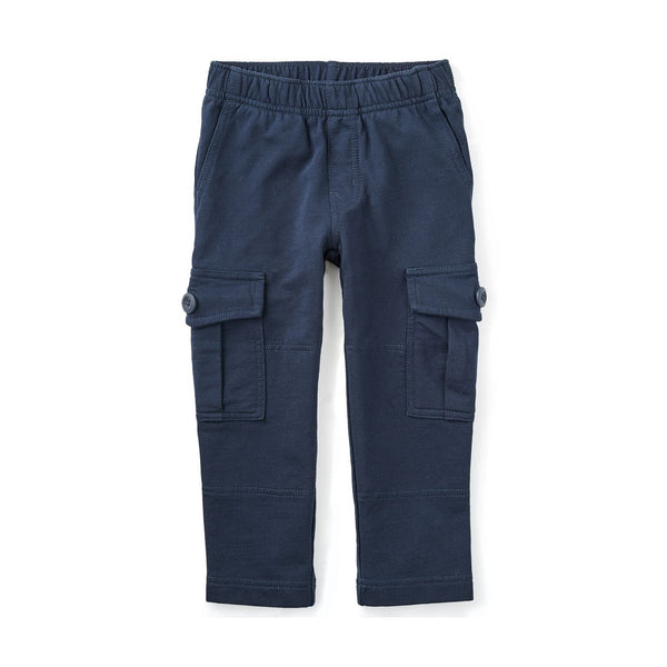 French Terry Cargo Pants - Heritage Blue