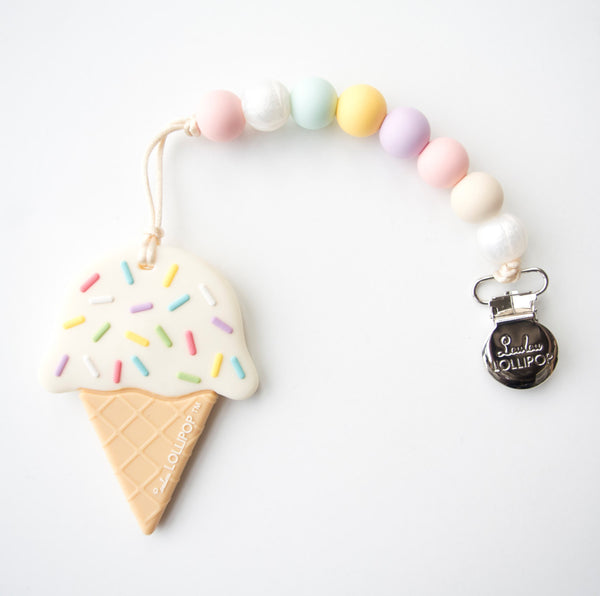Ice Cream Teether with Holder
