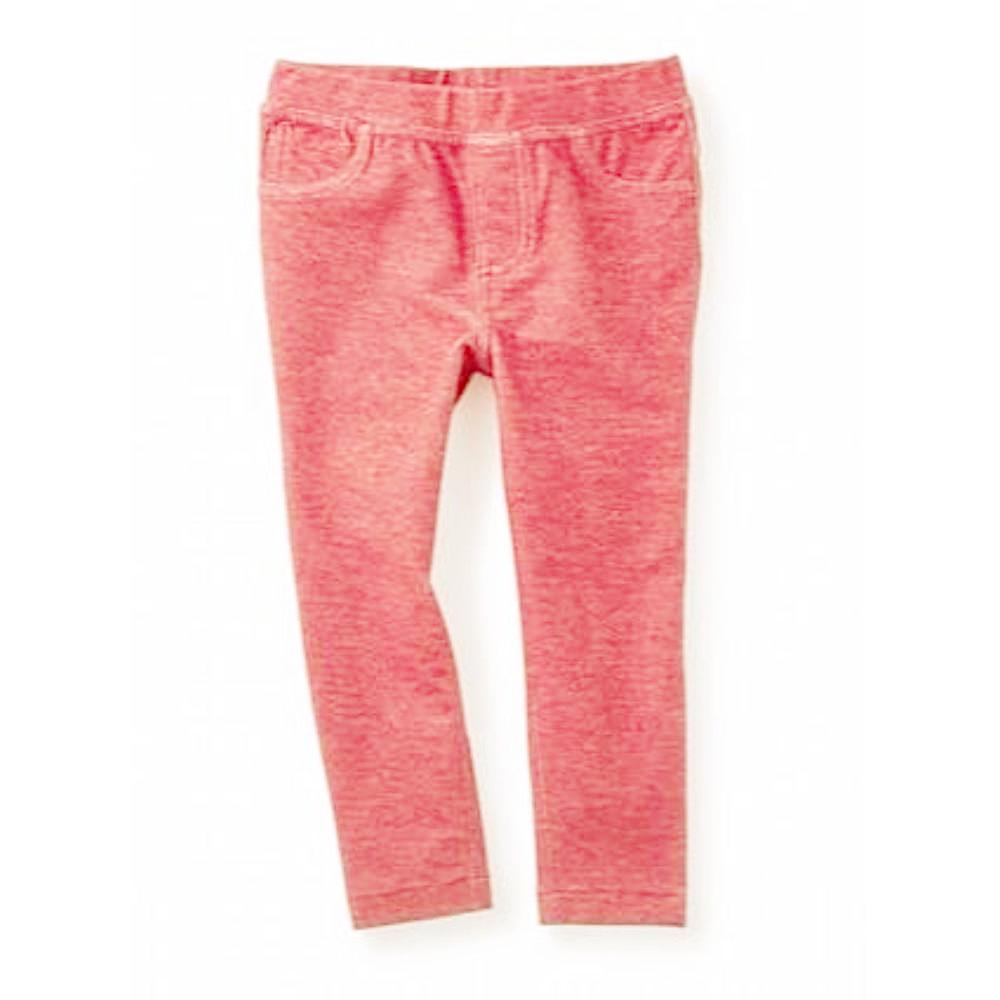 Denim Like Pants Coral Pink