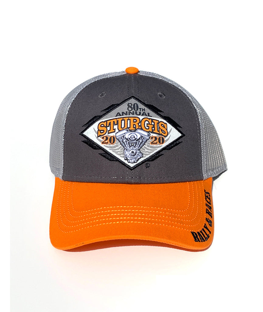 2020 Sturgis Engine Grey and Orange Hat