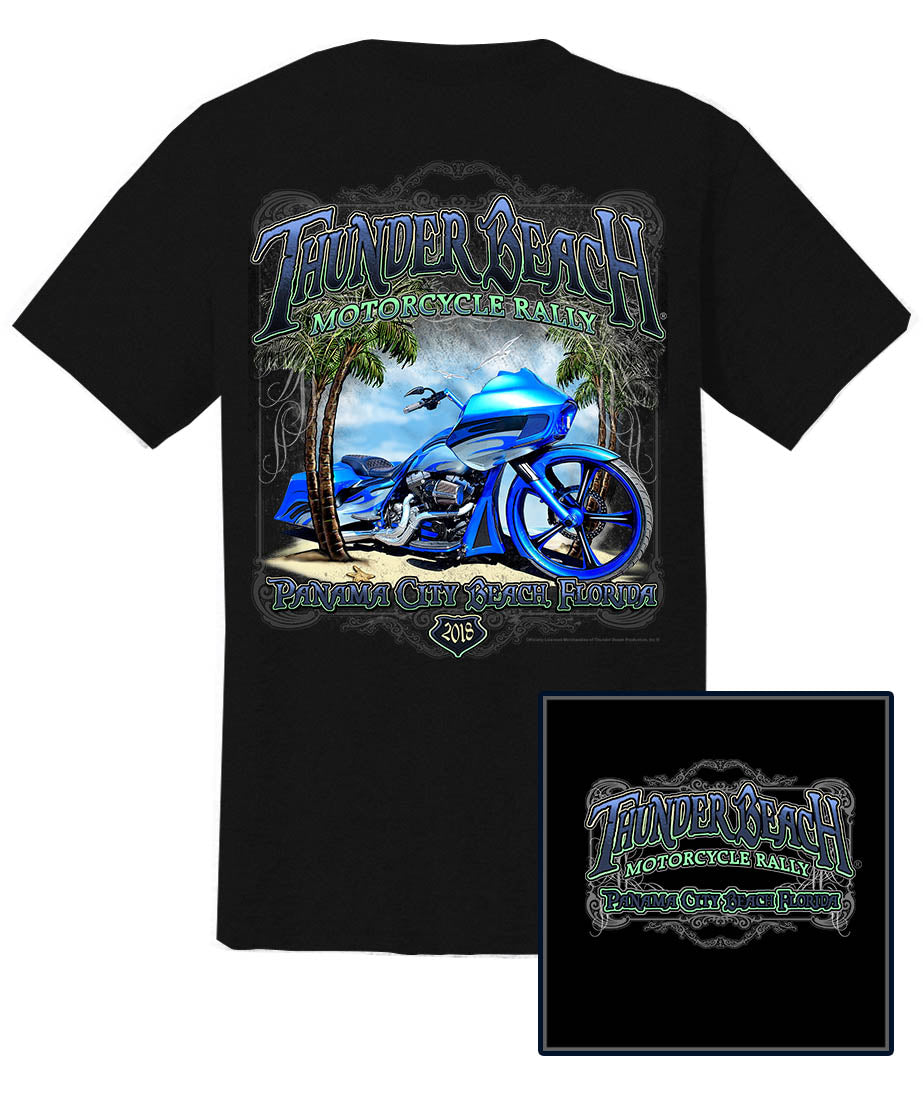 2018 Thunder Beach Bagger Black T-Shirt