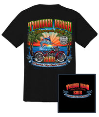 2018 Thunder Beach Marlin Black T-Shirt