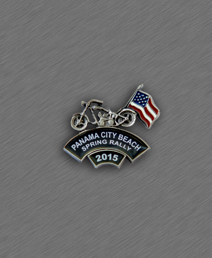 2015 Spring Thunder Beach Pin - Bike with American Flag