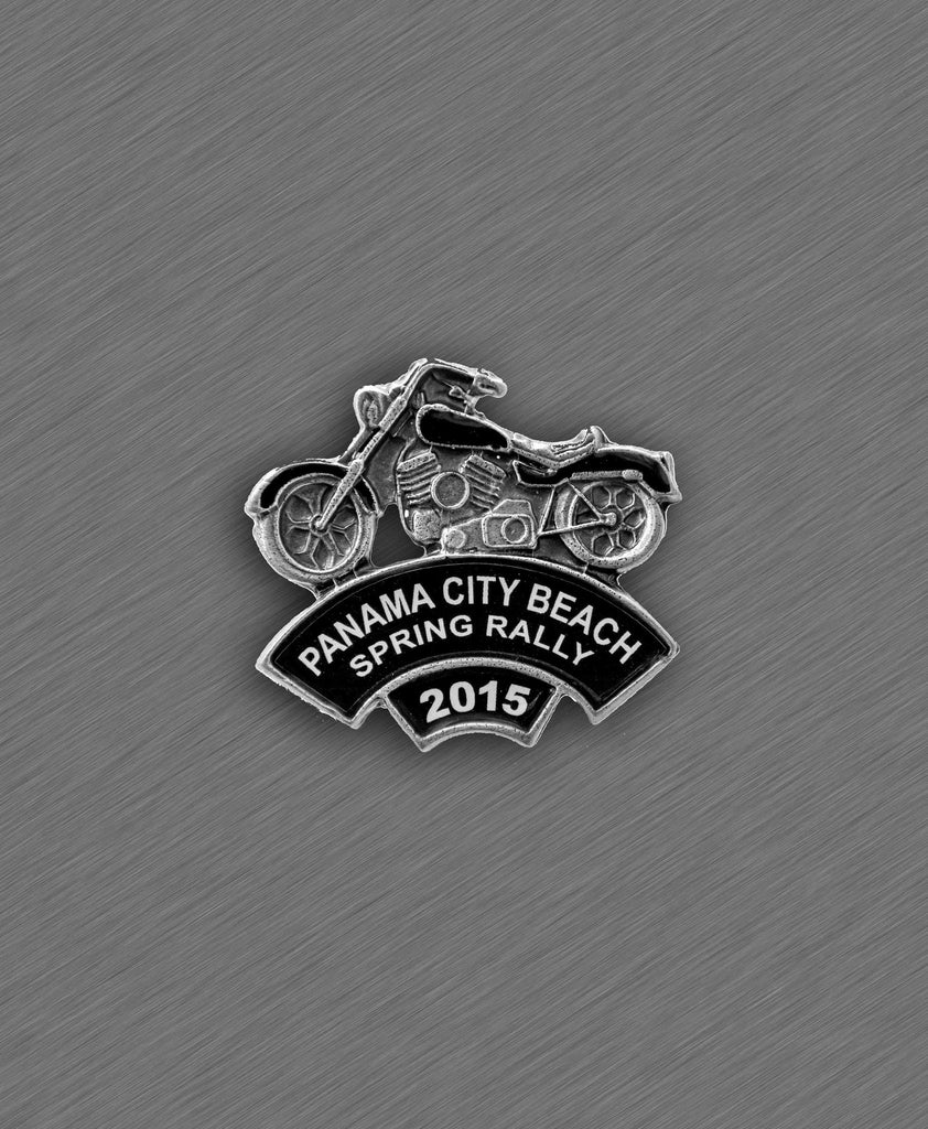 2015 Spring Thunder Beach Pin - Black Bike