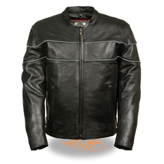 Men's Side Stretch Jacket with Reflective Piping