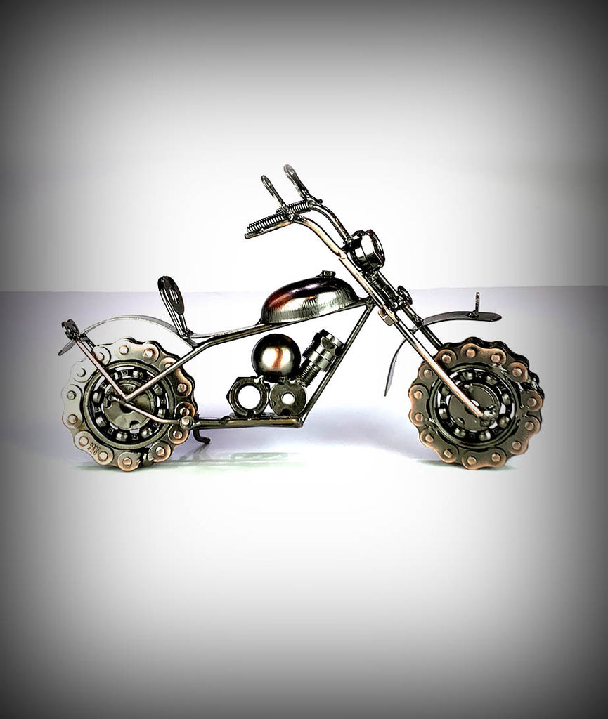 "10"" Collectors Decorative Metal Motorcycle"