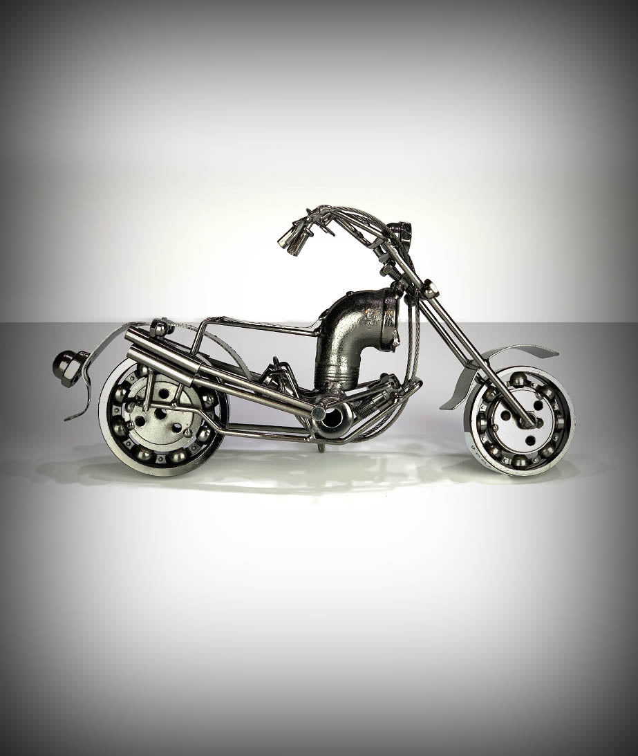 "11"" Collectors Decorative Metal Motorcycle"