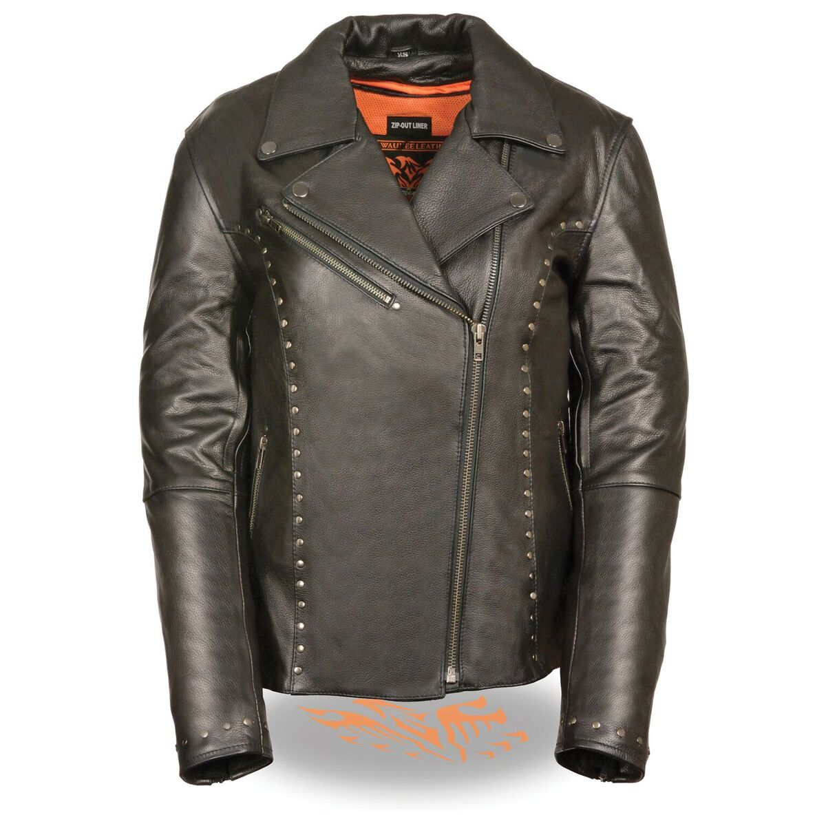Women's Classic m/C Jacket with Rivet Detailing