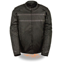 Men's Vented Textiles Jacket with High Visibility Reflective