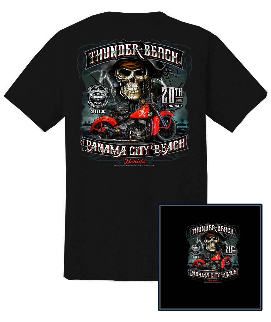 2018 Spring Thunder Beach #1 Design Black T-Shirt