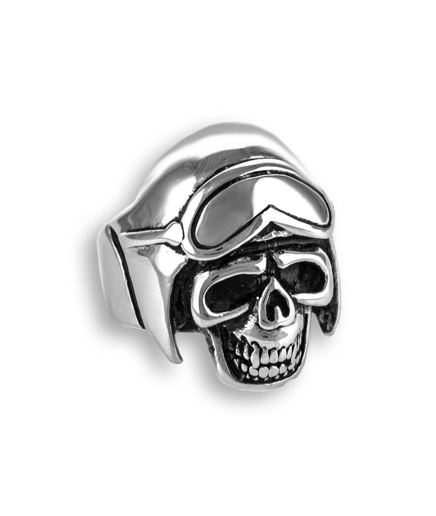 Biker Skull Men Stainless Steel Ring