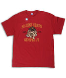 Marines Retro Bulldog Red T-Shirt