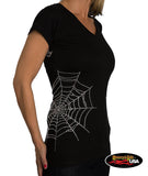 Poison Spider Web V-Neck Tee