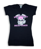 Bikers Against Breast Cancer Ladies Black V-Neck