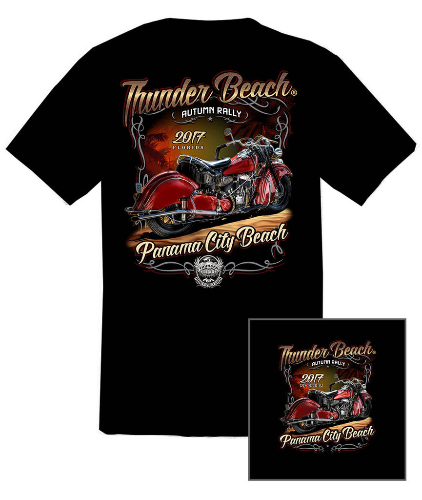 2017 Autumn Thunder Beach #1 Design Black T-Shirt