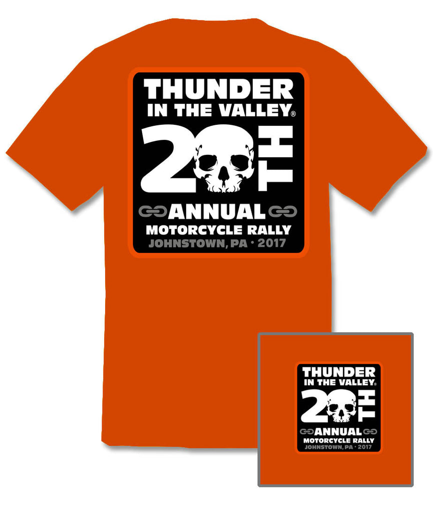 2017 Thunder in the Valley #1 Design Orange T-Shirt