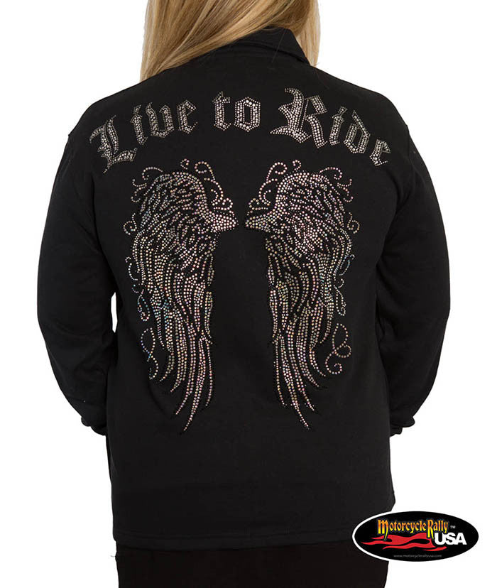 Live to Ride Wings Fashion Cardigan