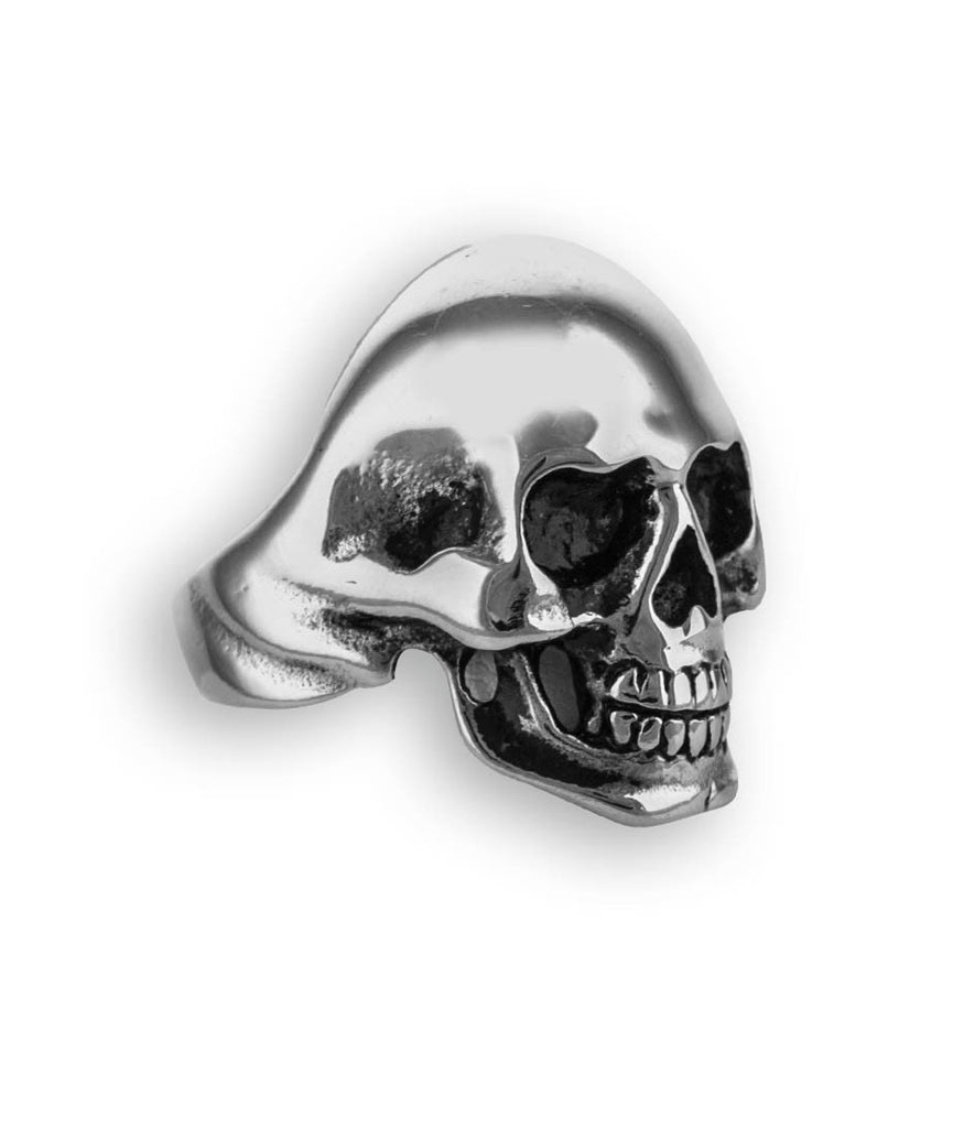 Skull with Wings Stainless Steel Ring