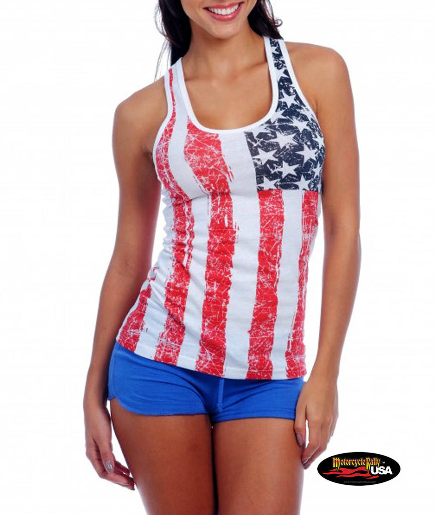 US Flag Racer Back Tank