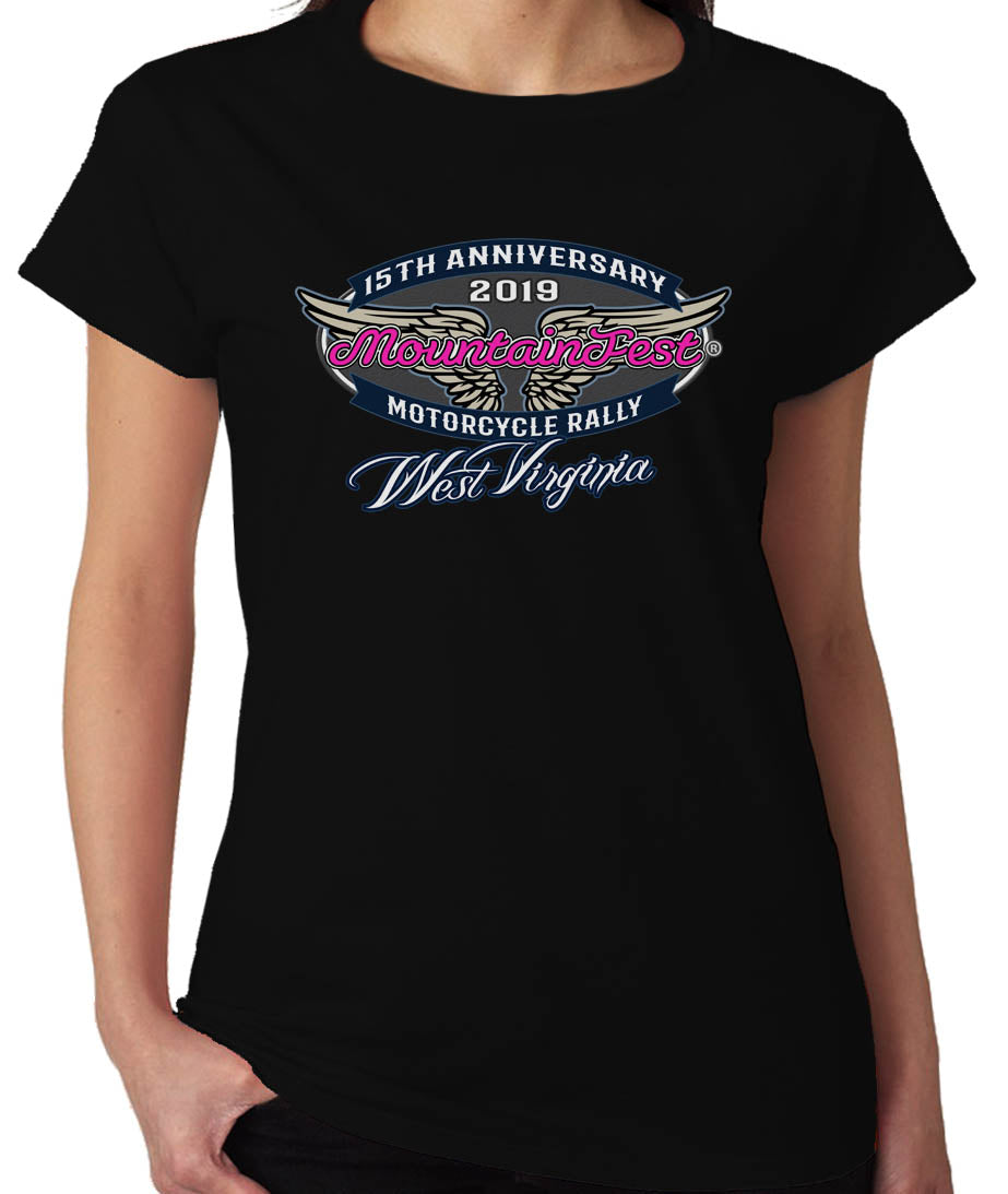 2019 MountainFest Wings Ladies Missy O Black Top