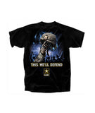 Army Helmet Black T-Shirt
