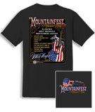 2018 MountainFest Bands Shirt Charcoal T-Shirt