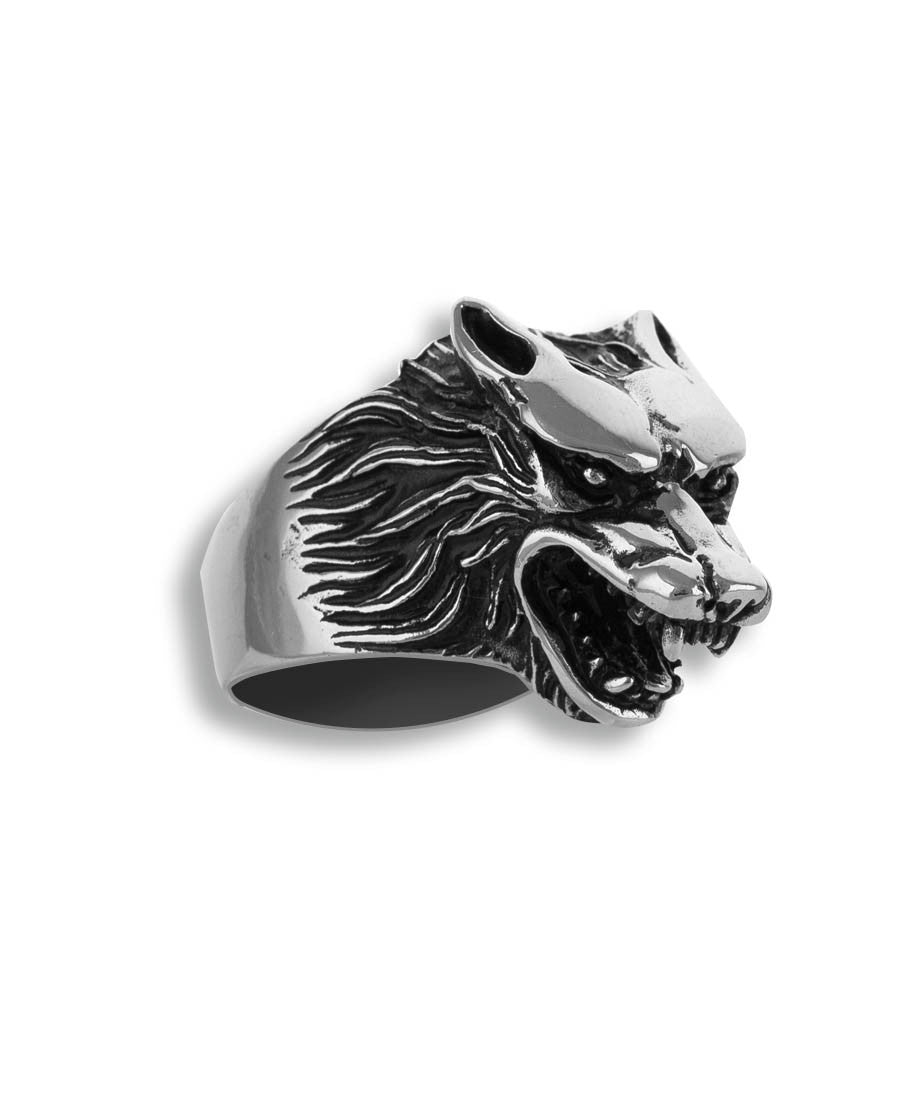 Wolf Men Stainless Steel Ring