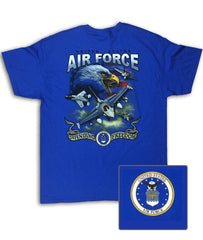 Air Force Screaming Eagle Royal Blue T-Shirt