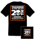 2017 Thunder in the Valley #1 Design Black T-Shirt