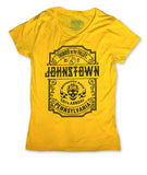 2017 Thunder in the Valley Black Skull on Gold/Yellow Ladies Top