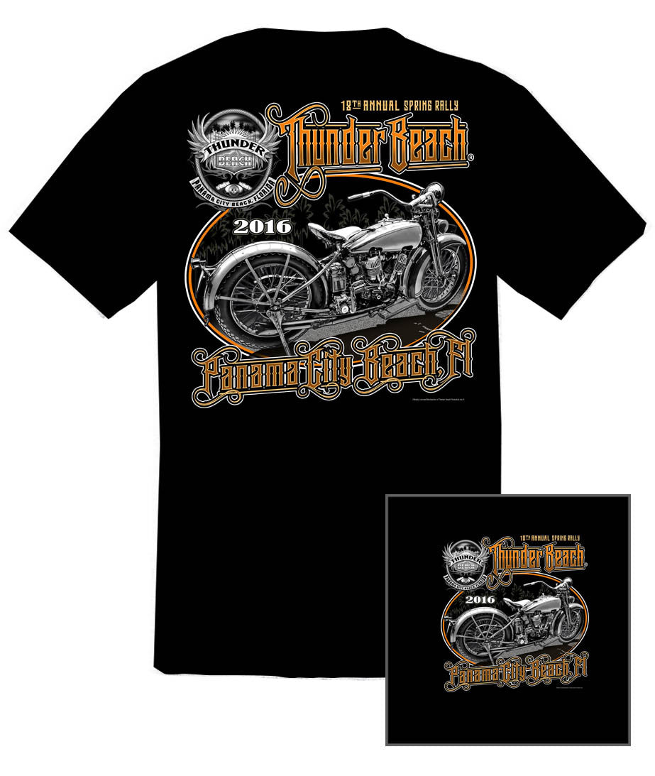 2016 Spring Thunder Beach 201620 Black T-Shirt