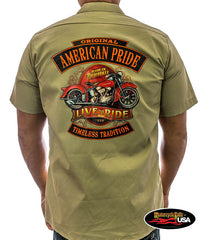 American Pride Live to Ride Work Shirt