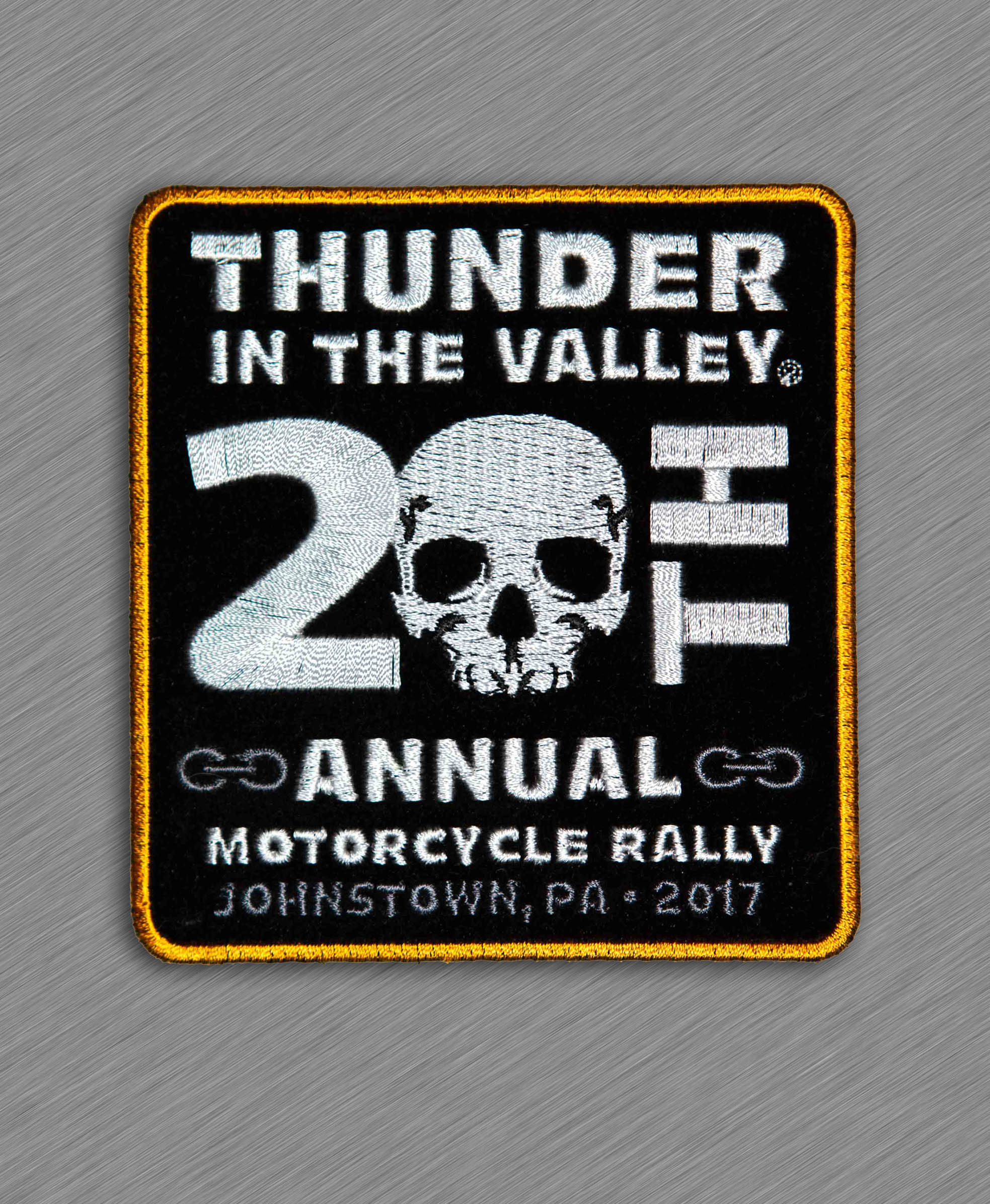 2017 Thunder in the Valley- Johnstown, PA Official Patch